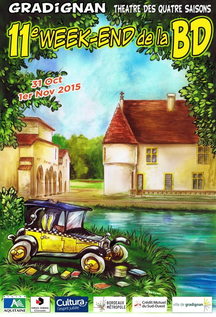 Affiche du festival de la BD de Gradignan, réalisé par Denis Lapierre