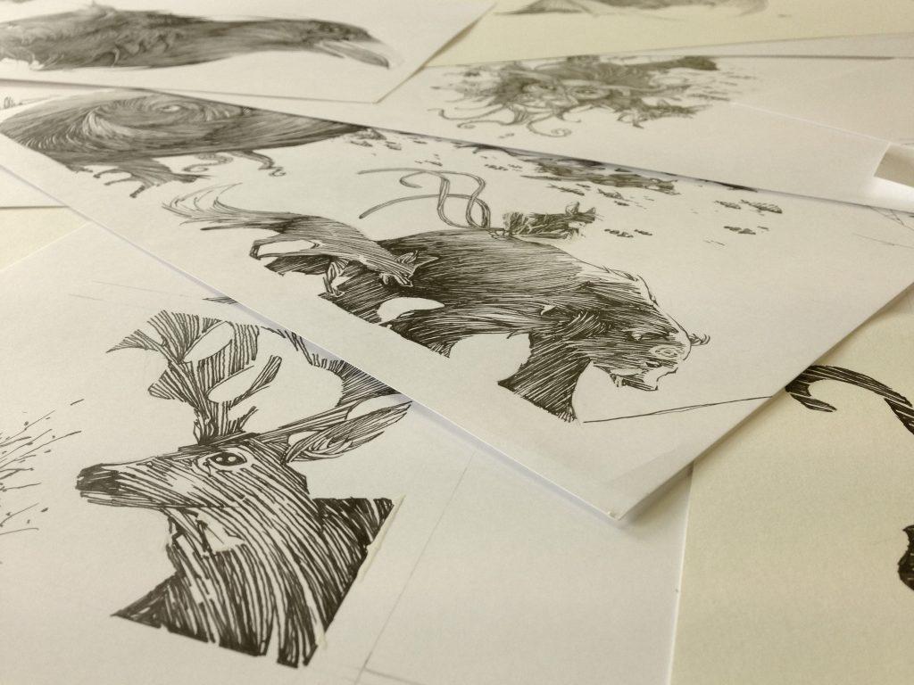 Compilation de dessins de De Creaturis Dementiae (Dessins : Ben Basso) - Flibusk