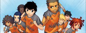 L'Équipe Z, le manga foot : photo de famille (Dessin : Albert Carreres) - Flibusk