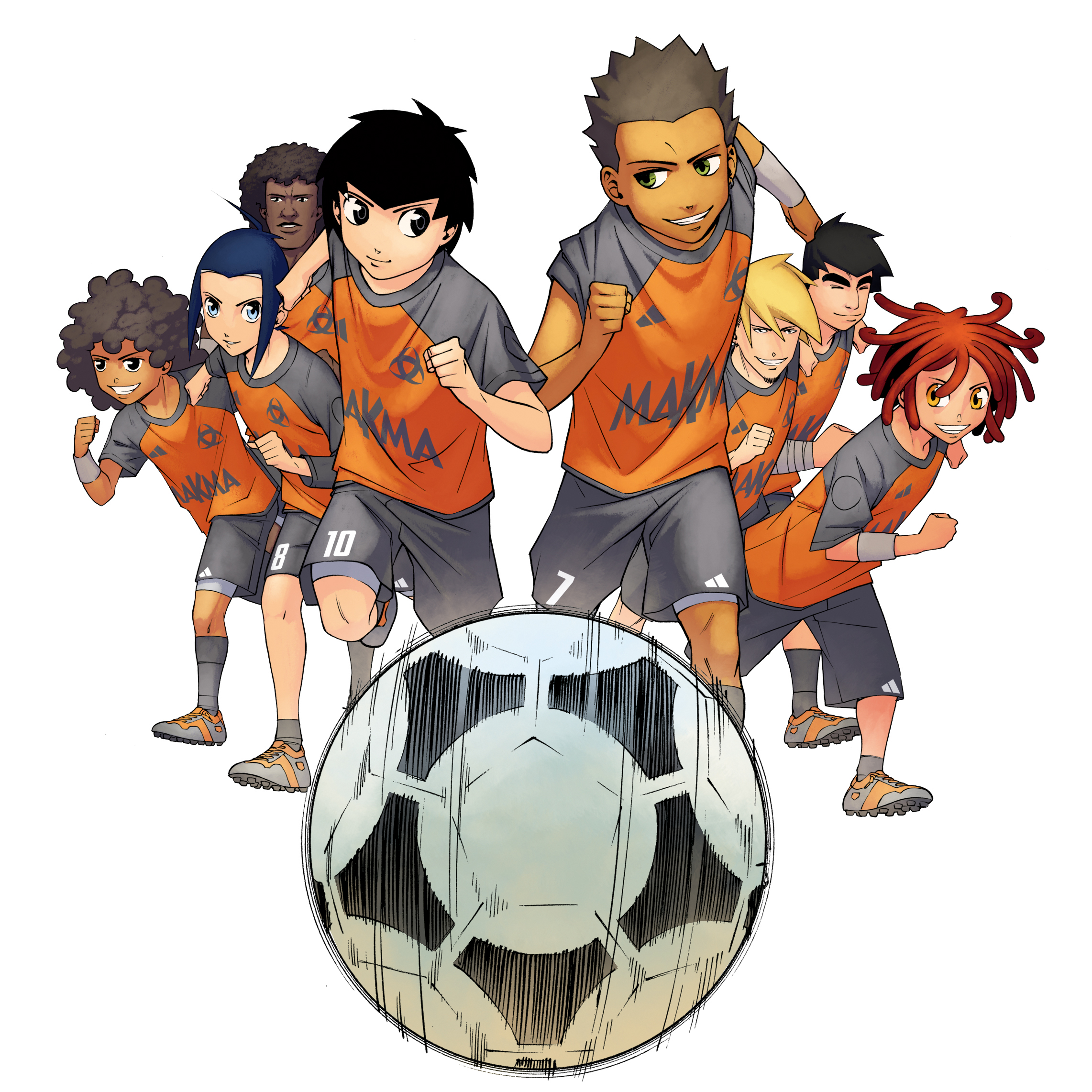 L'Équipe Z, le manga foot : détail de la couverture du tome 2 (Dessin : Albert Carreres) - Flibsuk